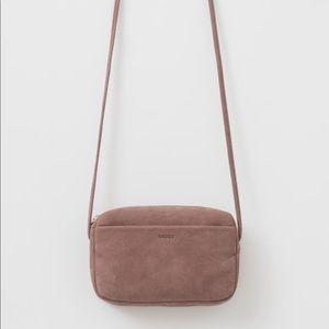 BAGGU Mini Purse in Taro Nubuck Leather NWOT